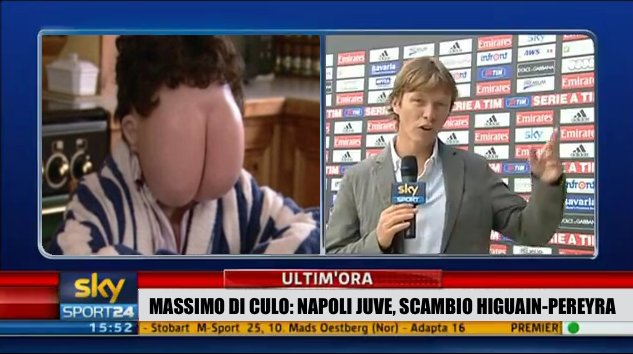 #MassimoDiCulo unveiled on Sky Sports. https://t.co/s2rkkXLySR