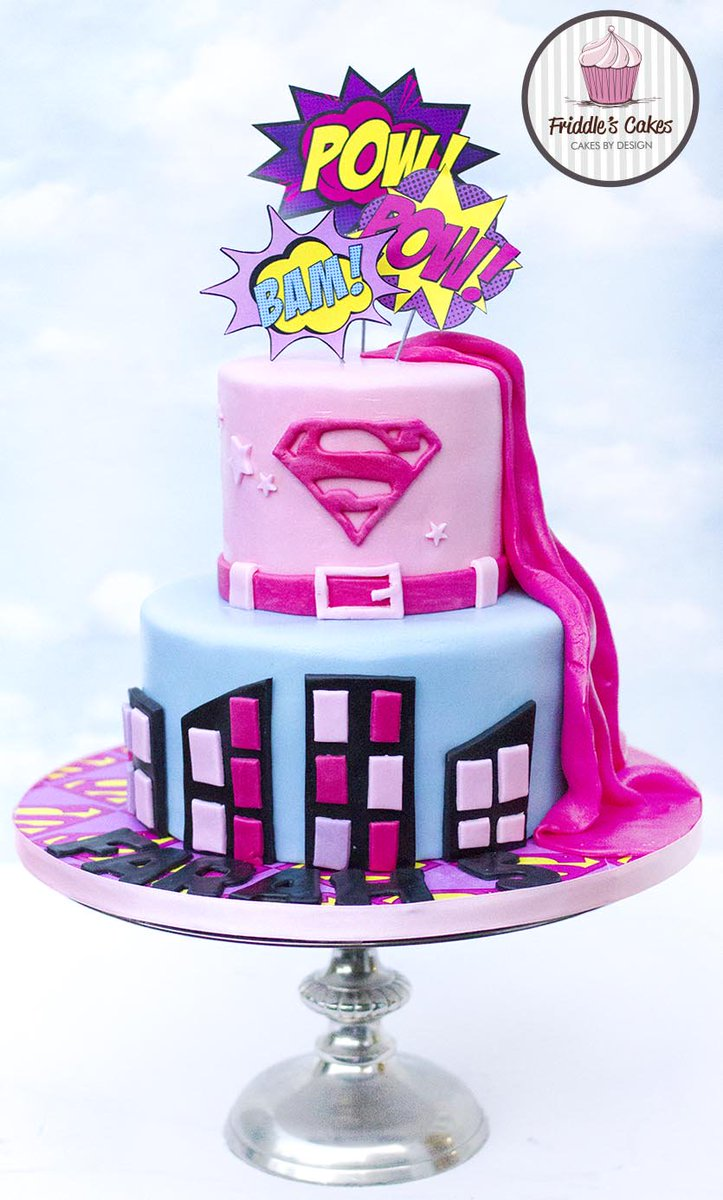 Excellent Friddles Cakes On Twitter For Girls Into Superhero A Supergirl Funny Birthday Cards Online Elaedamsfinfo