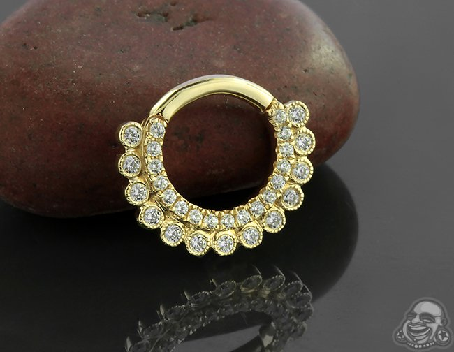 Bodyartforms On Twitter 14k Gold Apsara Clicker Ring By