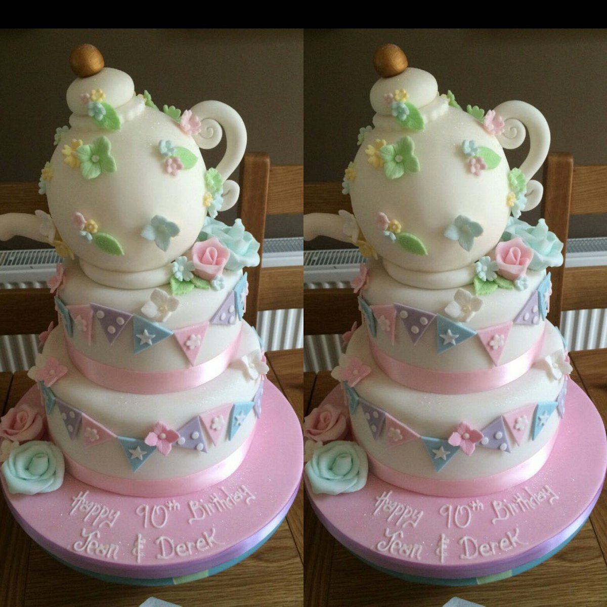 Brilliant The Cake Box On Twitter Time For Tea Teapot Birthday Cake Personalised Birthday Cards Cominlily Jamesorg