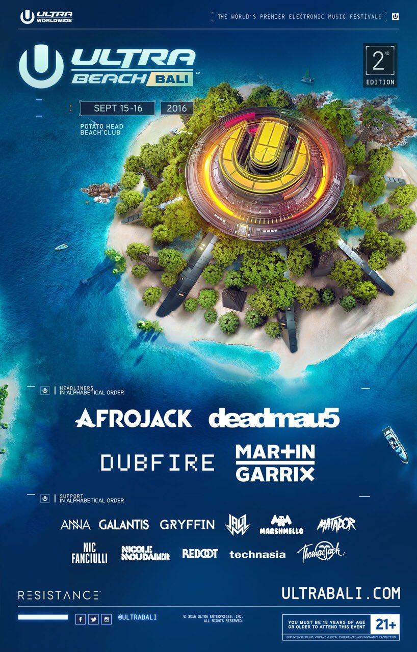 Afrojack Hingga Martin Garrix Masuk Lineup Ultra Beach Bali 2016