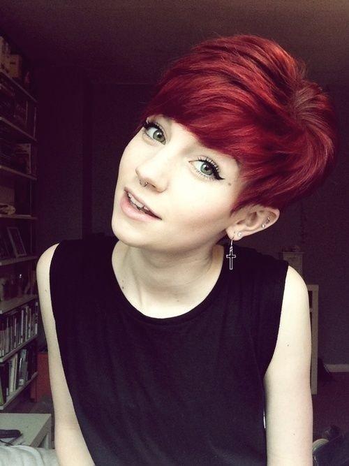 Kurze haare rot