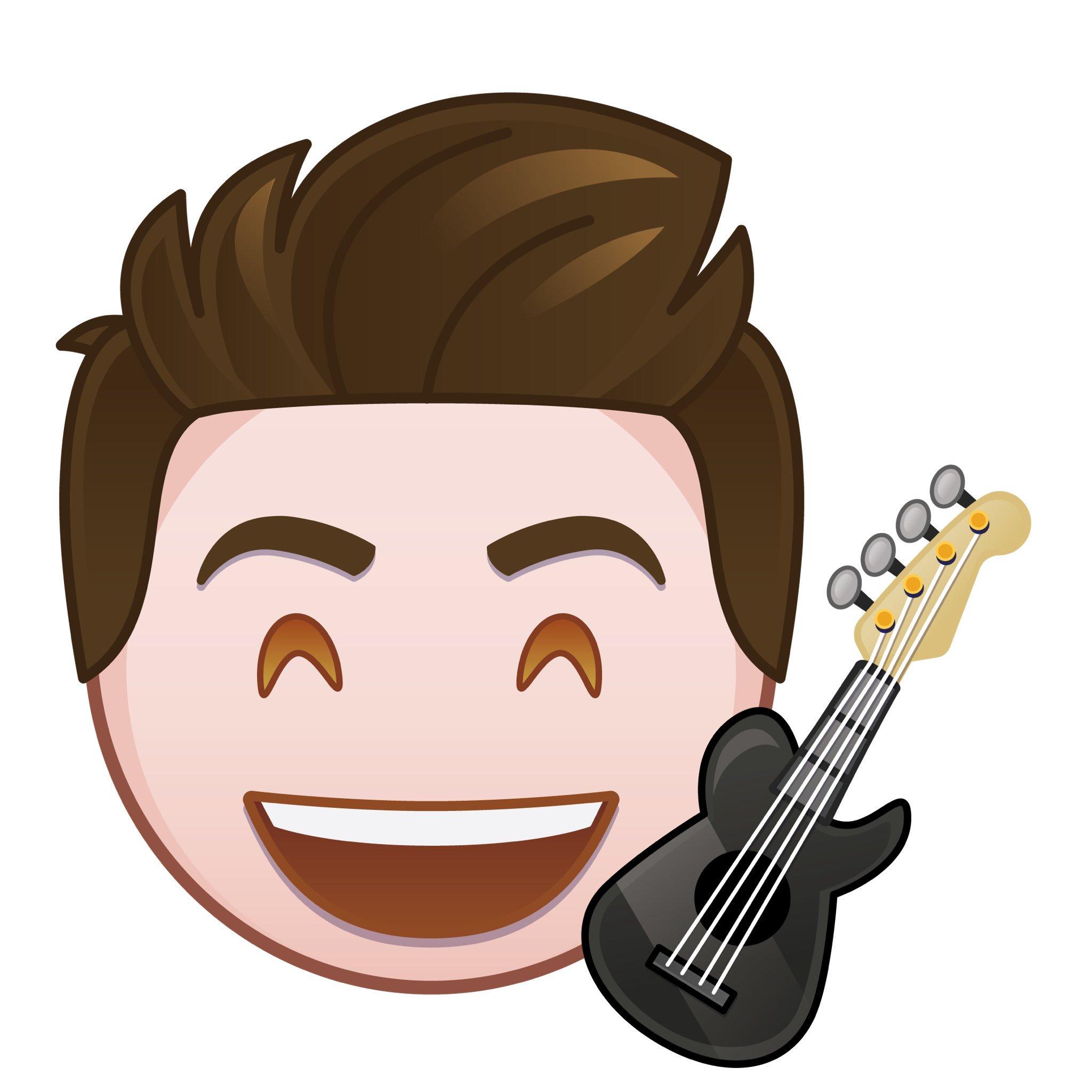 "liam attridge on twitter ""me and my floating emoji guitar"