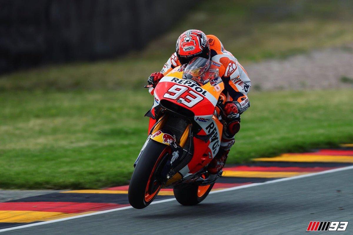 MotoGP Germania: Marquez vince rischiando lascia tutti all'asciutto