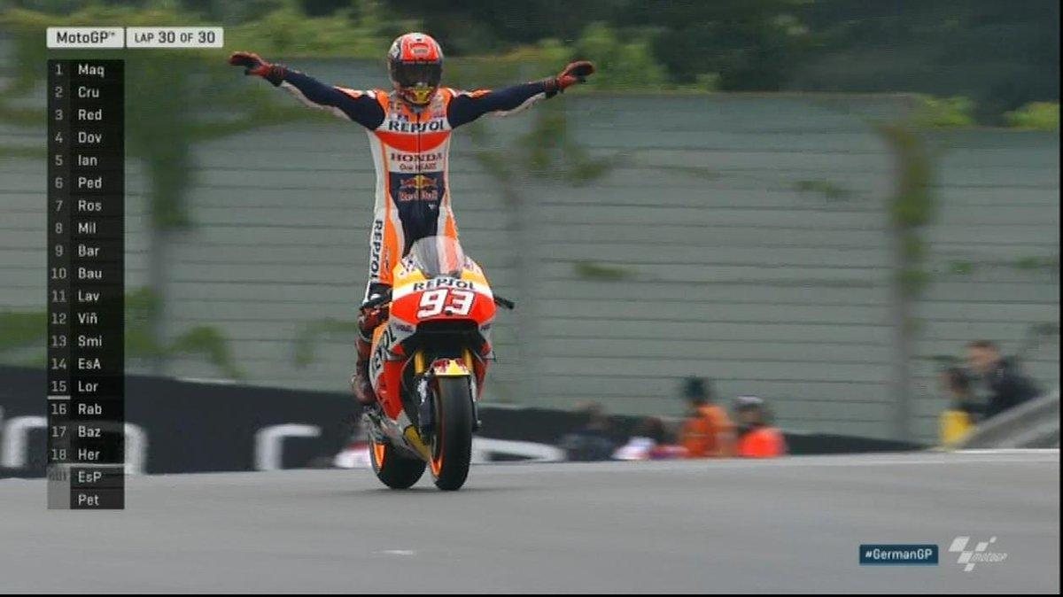 MotoGP: in Germania stravince Marquez, Rossi sbaglia (ancora) e finisce 8°