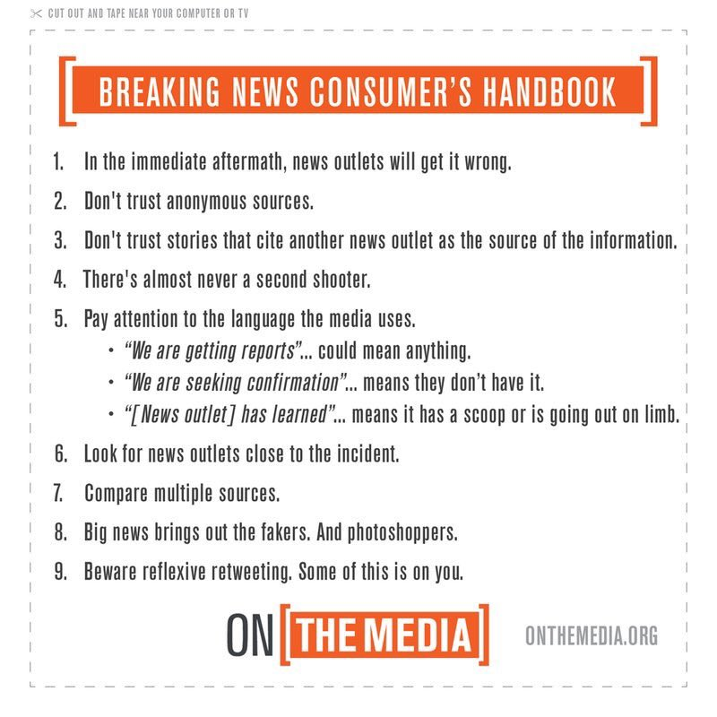 As news come in from #BatonRouge, remember early reports are often wrong. Here's the handbook: https://t.co/pfssXnsO1S