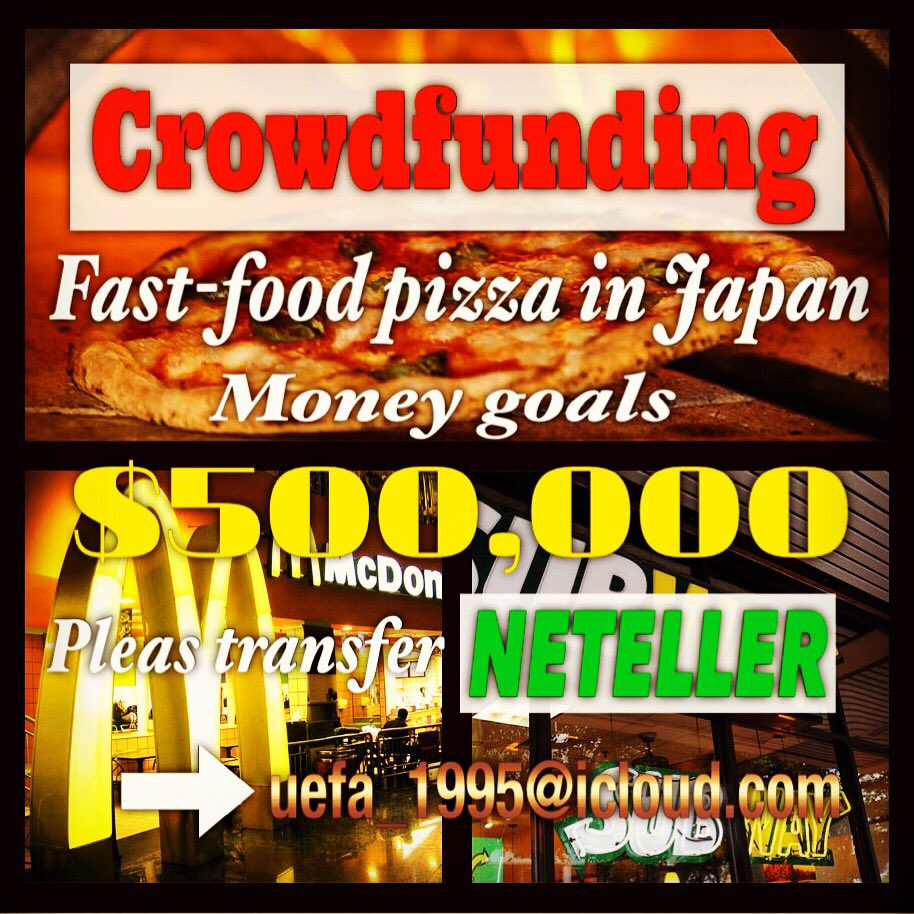 Hello. I want to make Nàpoli-pizza combines a subway and McDonald's fast food restaurants.  #crowdfunding #project https://t.co/3pWSYgZVtk
