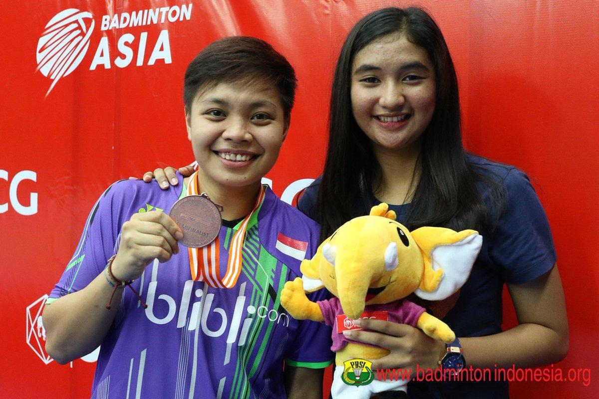 """BADMINTON INDONESIA on Twitter """"Apriani Rahayu dan pasangannya di"""