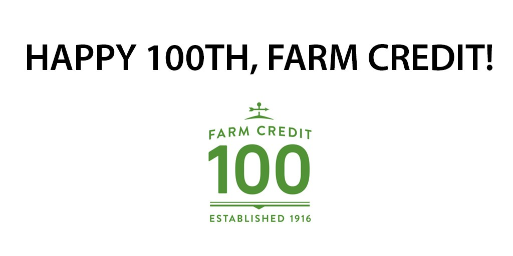 Join us in celebrating Farm Credit's 100 years of service to rural communities and agriculture! #FarmCredit100 https://t.co/tFQyp8dGMz