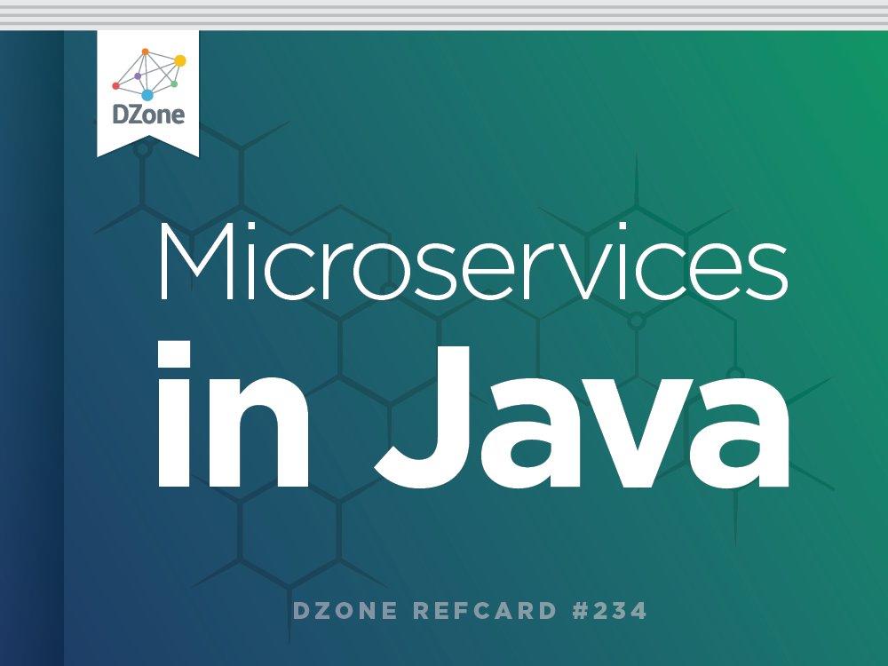 [NEW REFCARD] Learn Microservices in Java  https://t.co/XhkVc8QDRr  via @starbuxman @hazelcast https://t.co/nAUZGBjZky