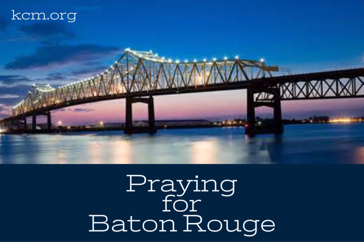 Our hearts hurt for all. We continue to put our hope in Jesus, our great Savior and Deliverer. #BatonRouge