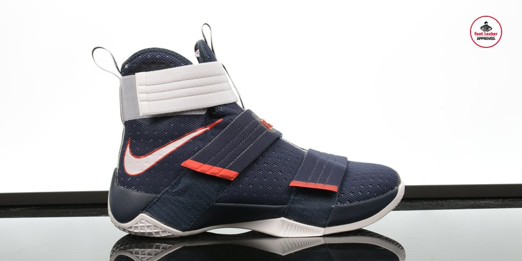 big sale 0d909 846e2  footlocker 2 years. the nike lebron zoom soldier 10 red white amp blue  drops online tomorrow at 10am edt