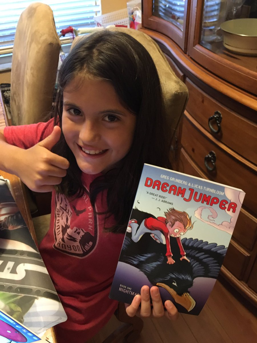 @greggrunberg my daughter just finished #DreamJumper -❤️ it. Can't wait for more. In meantime she's reading it again https://t.co/pvBItmGTHh