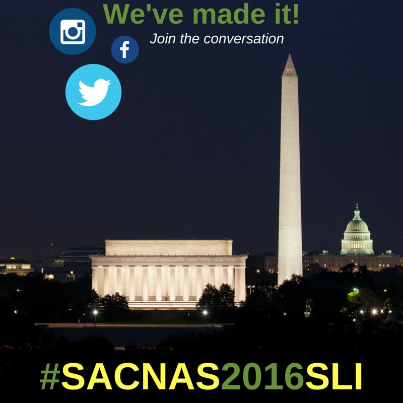 IN #DC! Follow our cohort, hear their stories starting tomorrow 7/18 #SACNAS2016SLI https://t.co/NYDY8NoDz5 #AAAS https://t.co/cMogLD8L5h
