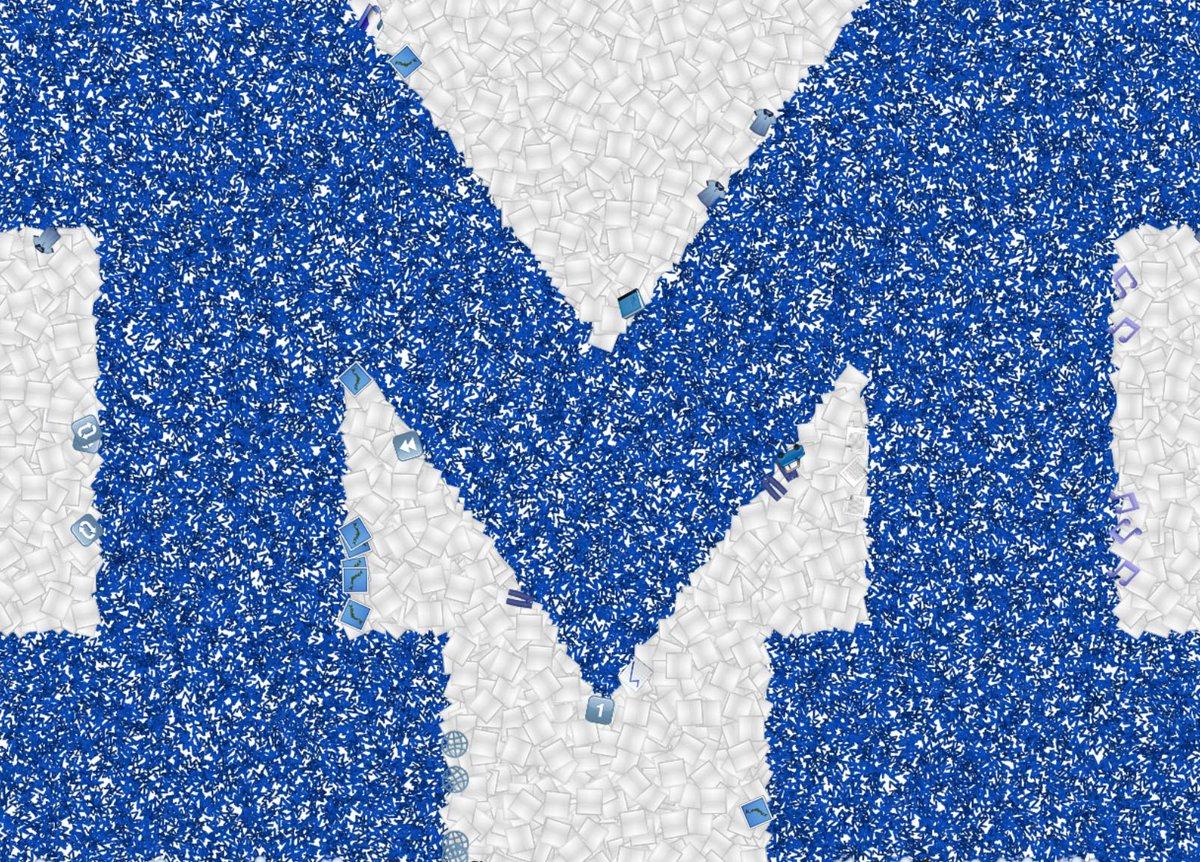 michigan athletics on twitter a block m made with emojis goblue worldemojiday