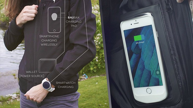 Game-changer? These clothes can wirelessly charge your phone @kickstarter @BauBax