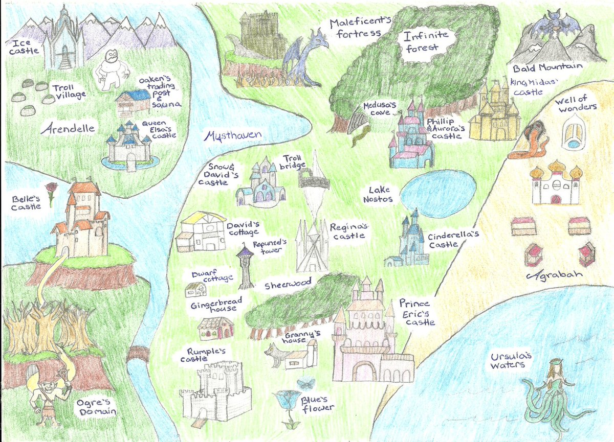 Jacob Salazar On Twitter My Updated OUAT Map Of The Enchanted