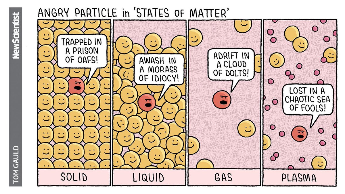 Image result for particle model of matter cartoon