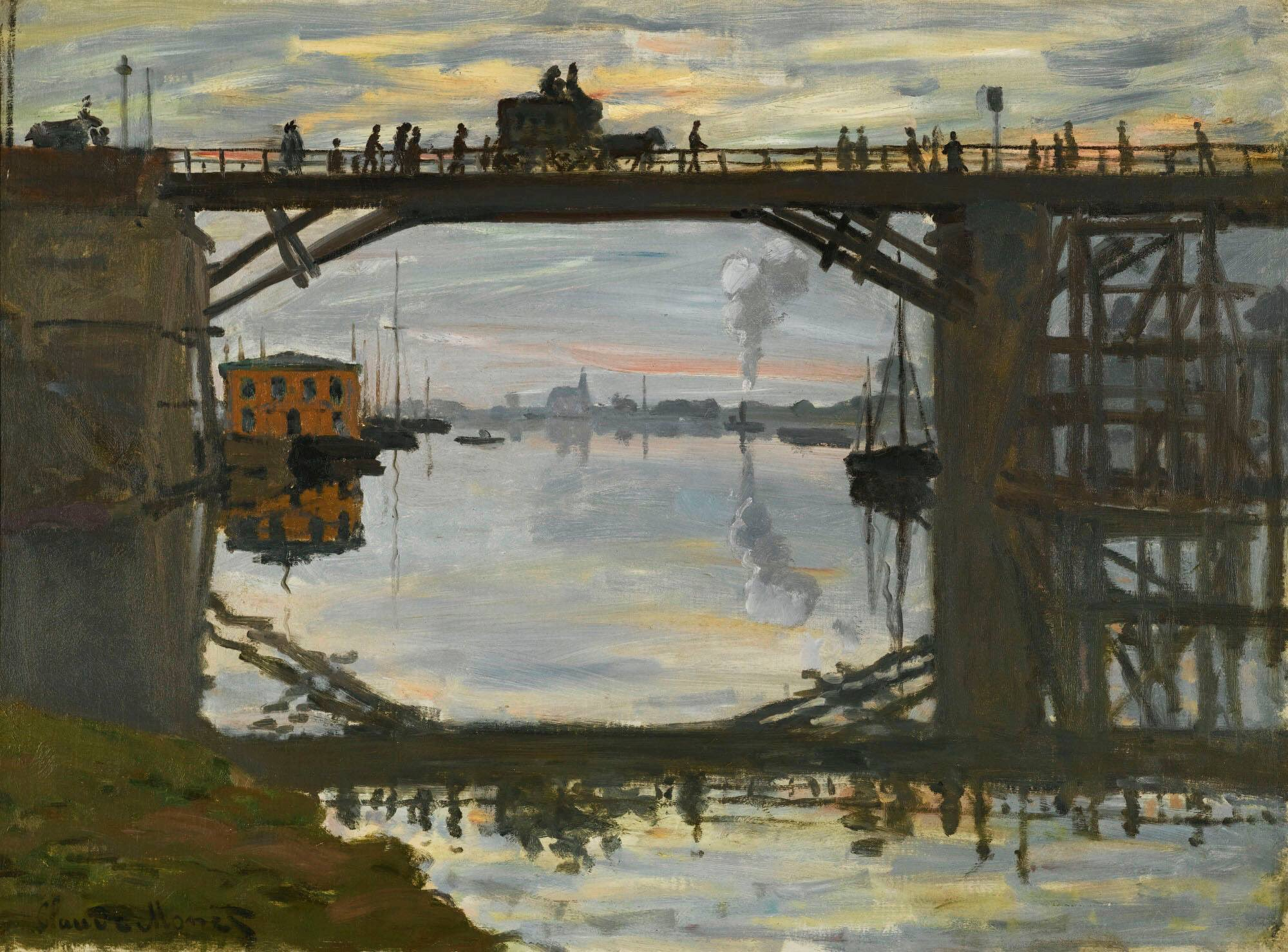 "Olga Tuleninova 🦋 on Twitter: ""Claude Monet WOOD BRIDGE First owner of  this painting was Edouard Manet, who acquired it from the artist in 1872.… """