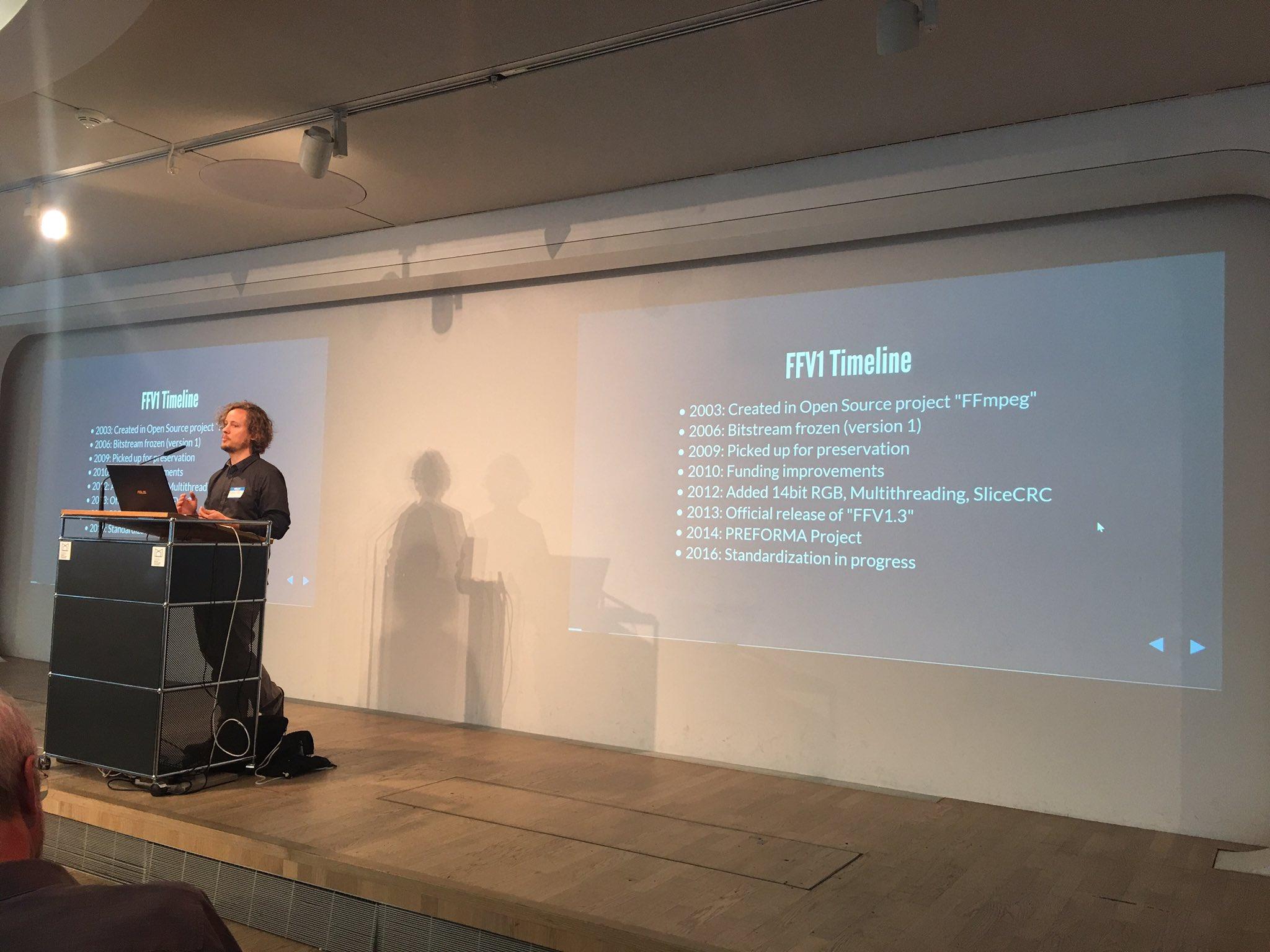 .@pjotrek_b gives the objective timeline of FFV1 development. Next comes the unobjective timeline. #notimetowait https://t.co/FCdh4jwKsV