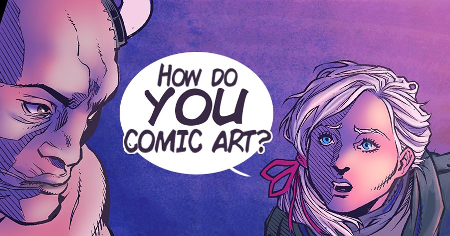 While coloring ISSUE #2 of #AFnS I've searched for #inspirational #comic #art. I need more, so #howdoYOUcomicart?