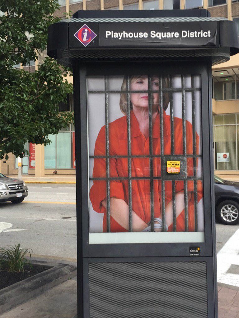Image result for hillary in a cage