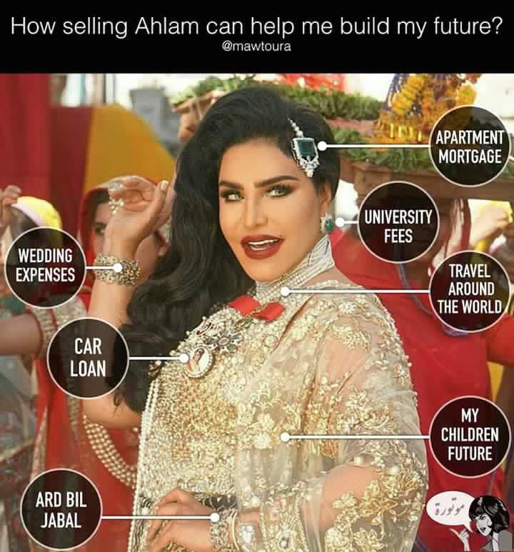 In this case you are NOT selling Ahlam you're selling what she is wearing,I dont think she is worth a penny herself https://t.co/9rh0Wn1v1D