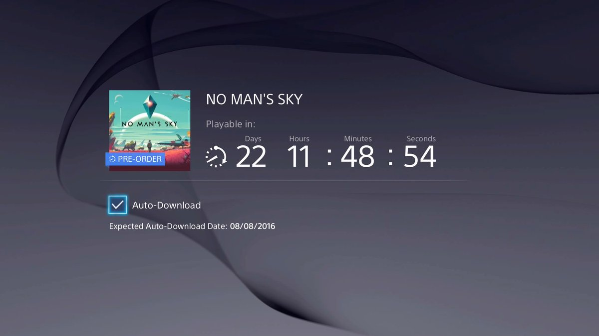 Cannot wait! #NoMansSky https://t.co/OvsgDMtzwC