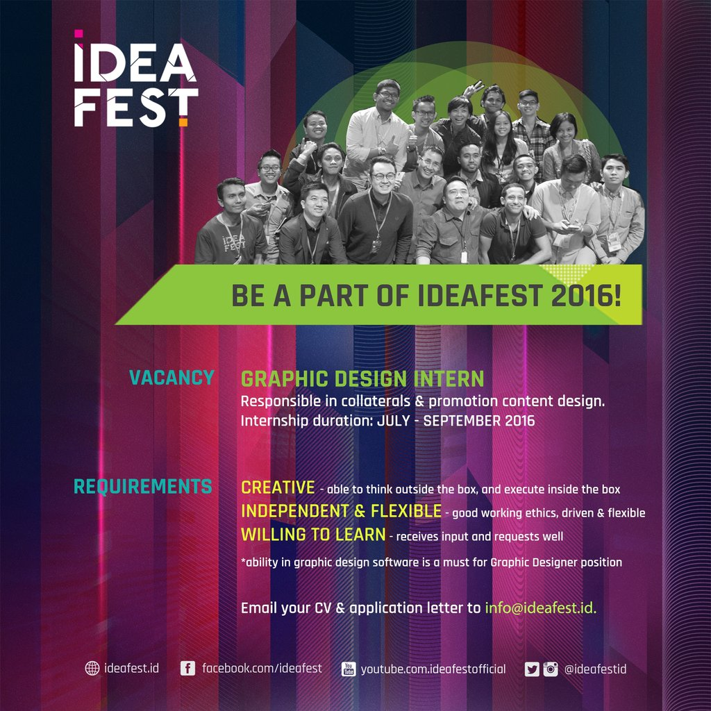 Ideafest On Twitter Be A Part Of Ideafest2016 Send Your Best Cv