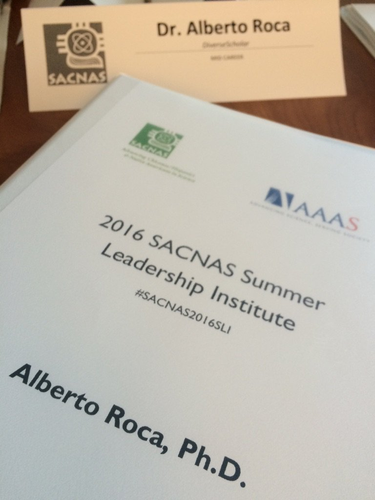 #SACNAS2016SLI begins https://t.co/7nWxkFDB31. Thx @SACNAS & @AAAS! Looking 4ward 2 meeting cohort- many new 2 me https://t.co/i1e5KtpAJH