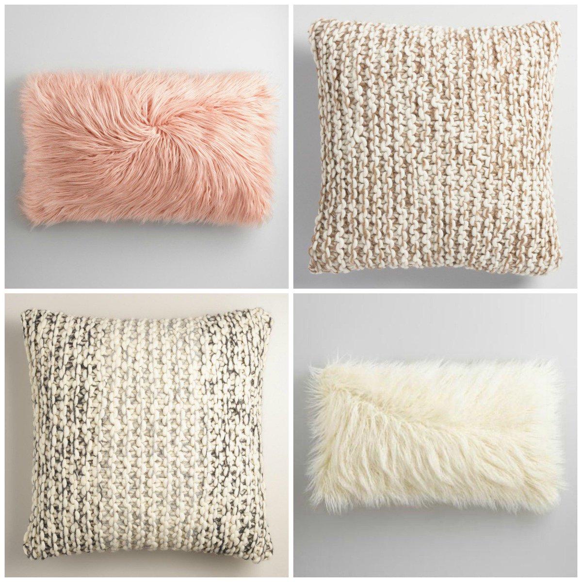 "world market on twitter: ""new! fluffy throw pillows from our super White Fluffy Throw Pillows"