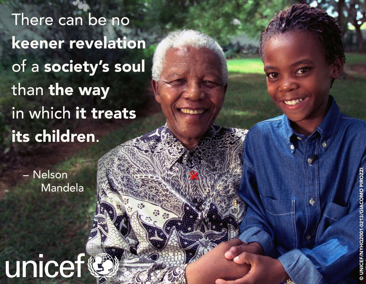 Unicef On Twitter On What Would Have Been Nelson Mandelas 98th