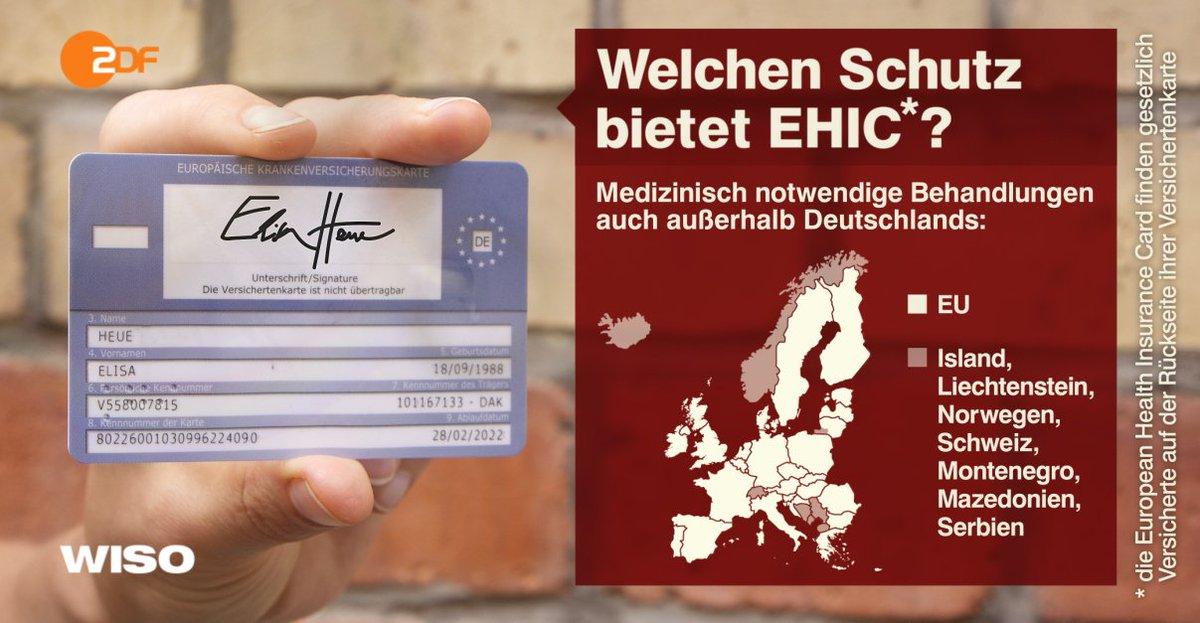 Ehic Karte.Wiso On Twitter Kennt Ihr Die Ehic Karte Die Ist Hilfreich Wenn