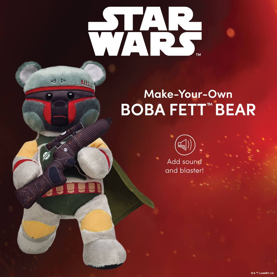 Make room in your #StarWars collection for this bounty hunter. Get Boba Fett Bear now. https://t.co/RD3RuUCPVT https://t.co/JLguyCPeIF