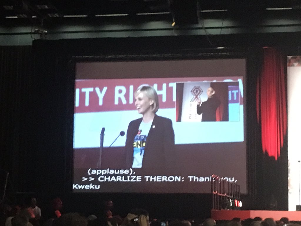 Thumbnail for South African actress Charlize Theron rocks Aids Conference 2016 opening ceremony