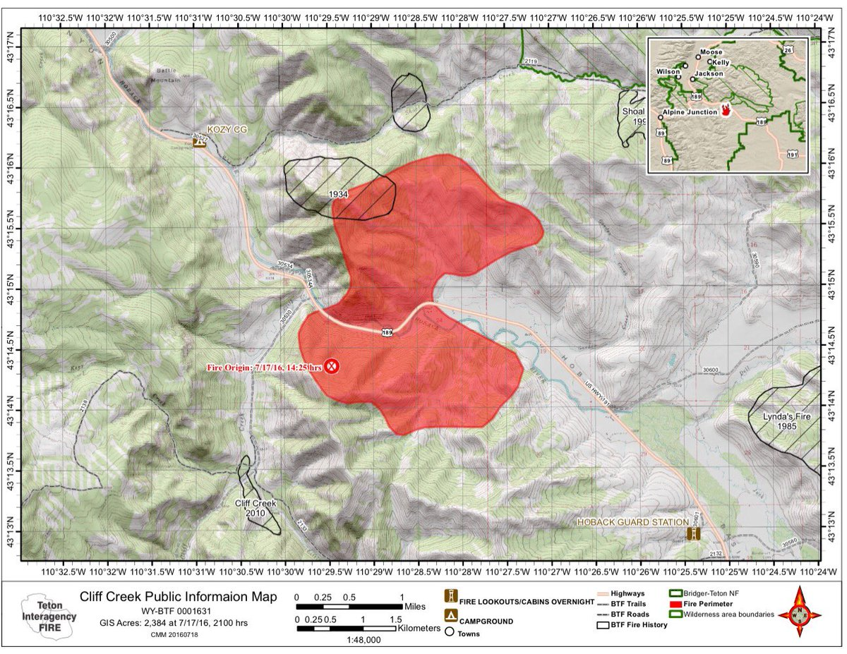Bondurant Wyoming Map.Bridger Teton Nf On Twitter Here Is A Map Of The Cliff Creek Fire