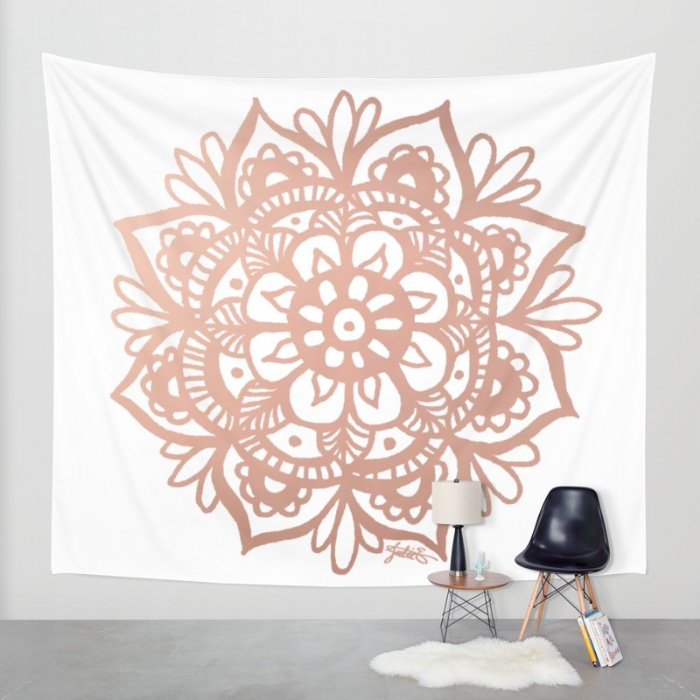 Julie Erin Designs On Twitter SOLD From My Society6 Store Rose Gold Mandala Wall Tapestry By Tco A1apLfyYgn