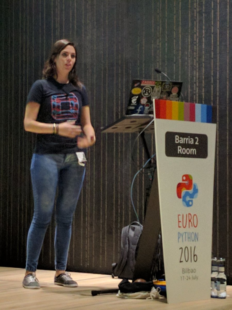 Packed house for an overview on how to build your first cloud application via #OpenStack at #europython https://t.co/Y14jBIHd4B