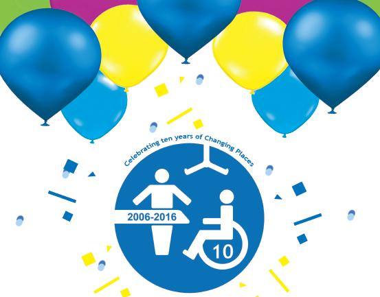 Hooray! It's our 10th birthday today! Thanks to everyone who has campaigned for #ChangingPlaces toilets 🚽🎈👏 https://t.co/x8jrYNW79t