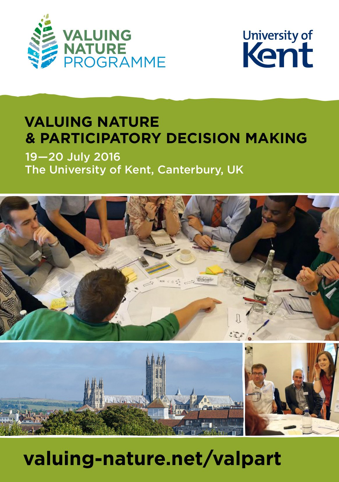 It's today! Valuing Nature & Participatory Decision Making conf    @UniKent #ValPart16 https://t.co/83w11ntBa4 https://t.co/1iMUhPObJq