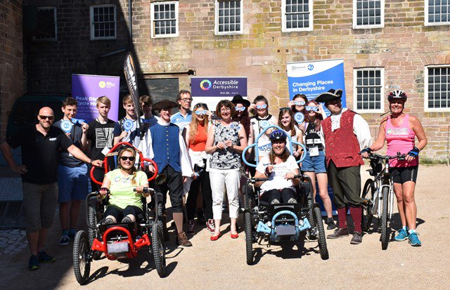 Great support from @NCS Derby - waving @AccessibleDS off on @bomaallterrain their @CP_Consortium 23 mile challenge https://t.co/6szs29xUPP