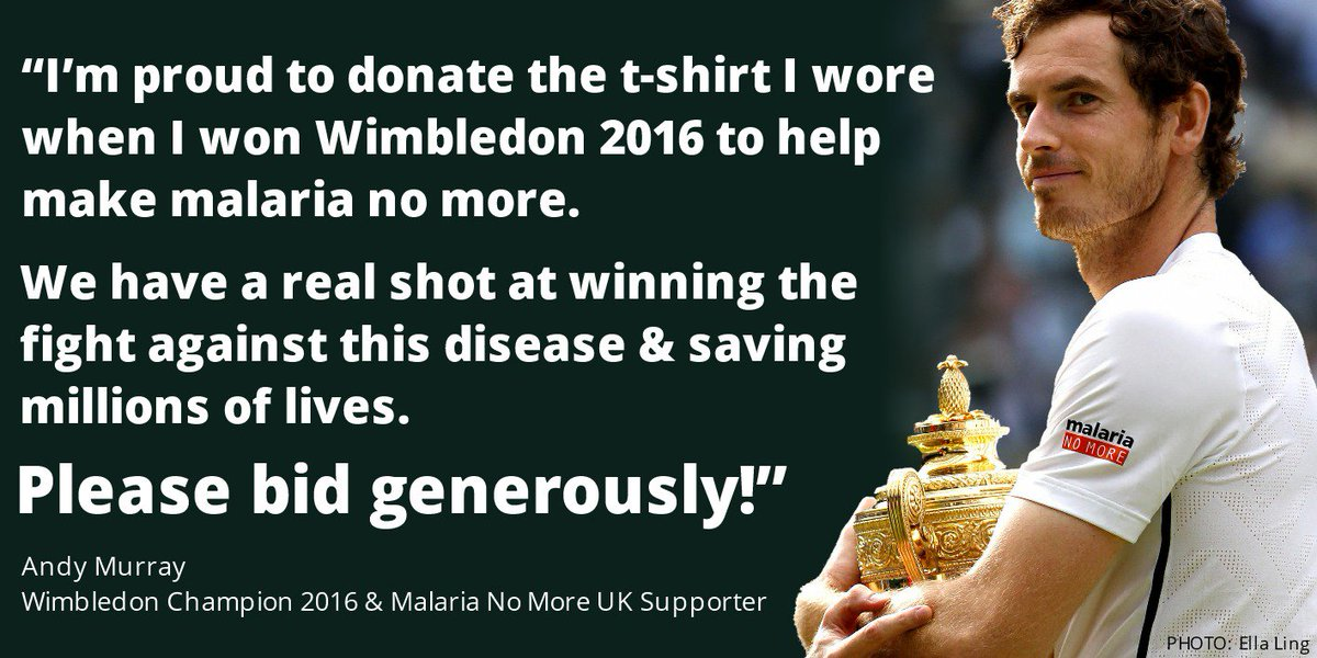 Want to own @andy_murray's signed #Wimbledon finals shirt? Now you can! https://t.co/RkQbYYQwQr PHOTO: @EllaLing23 https://t.co/R7TmCrQPzu