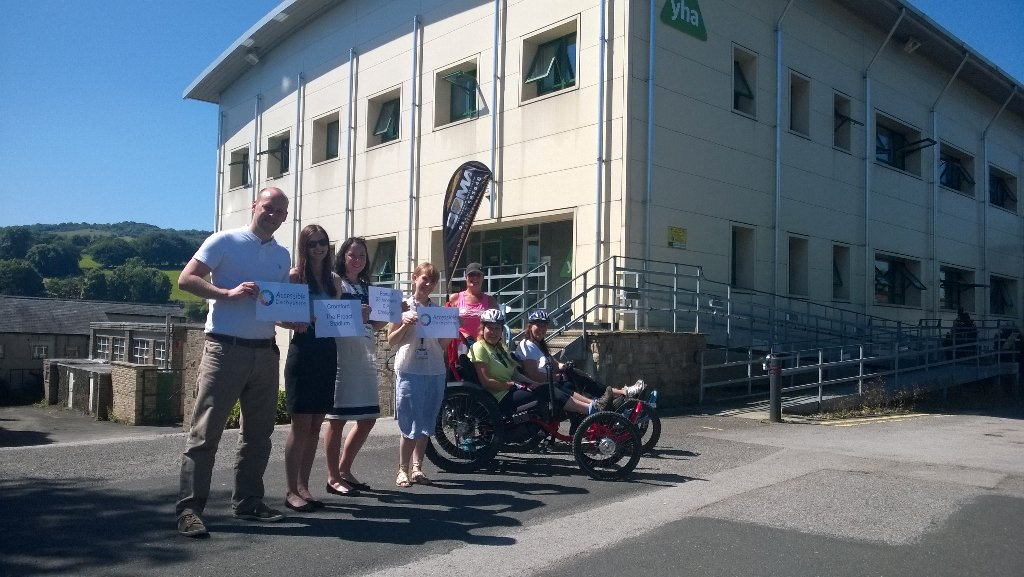 The ladies from @AccessibleDS just stopped by #YHA National Office on their accessible #bikes! #ChangingPlaces https://t.co/y81a8bcdGn