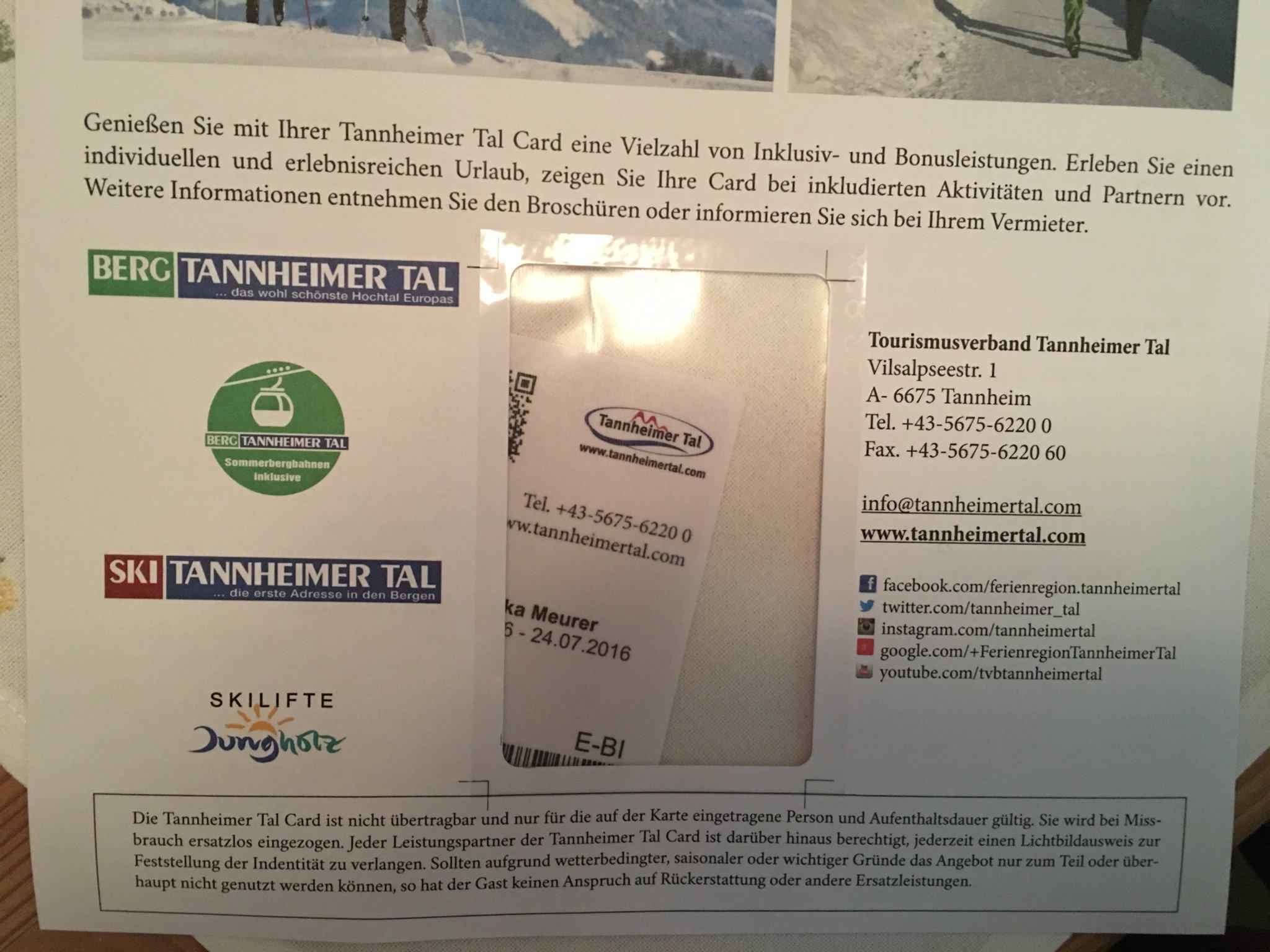 Wir haben eine Tannheimertal Card - und wir werden sie benutzen #meurers #TannheimerTal https://t.co/RtHIGzSooQ