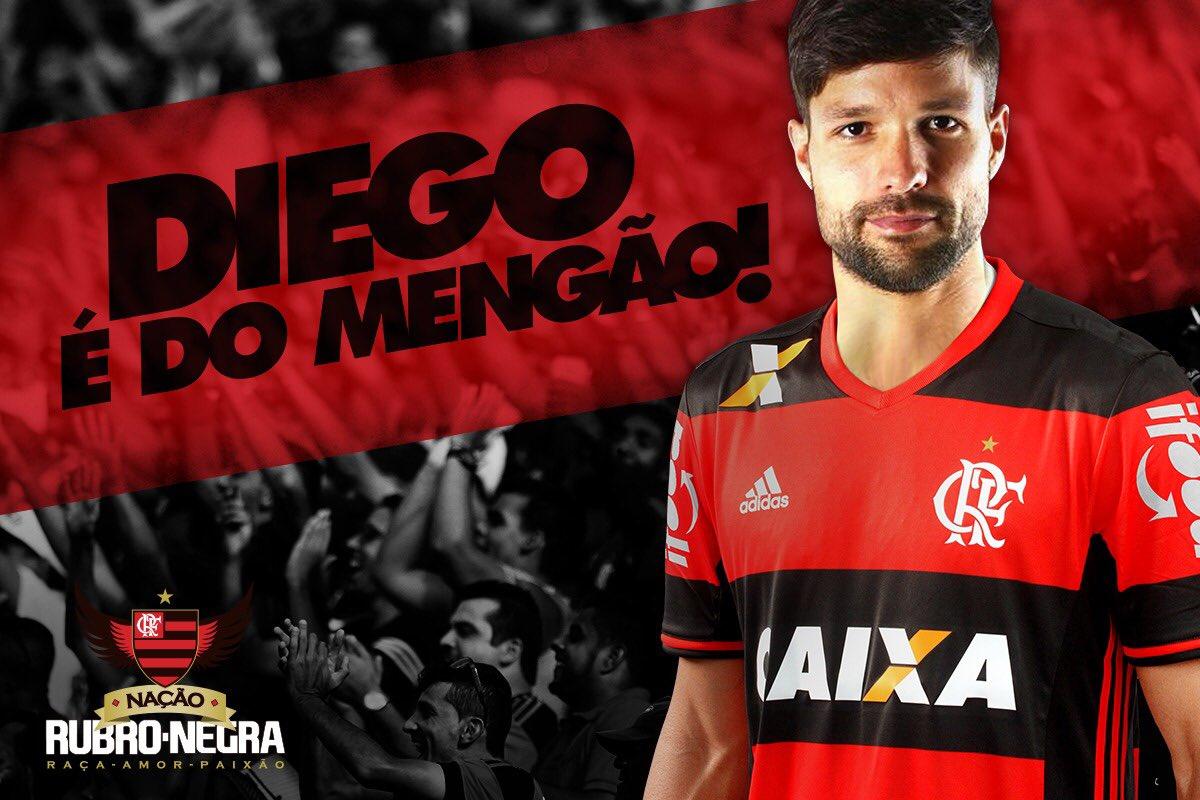 Comemora, Nação! Diego é jogador do Flamengo! Bem-vindo, @ribasdiego10! https://t.co/KjIZ59G0TY