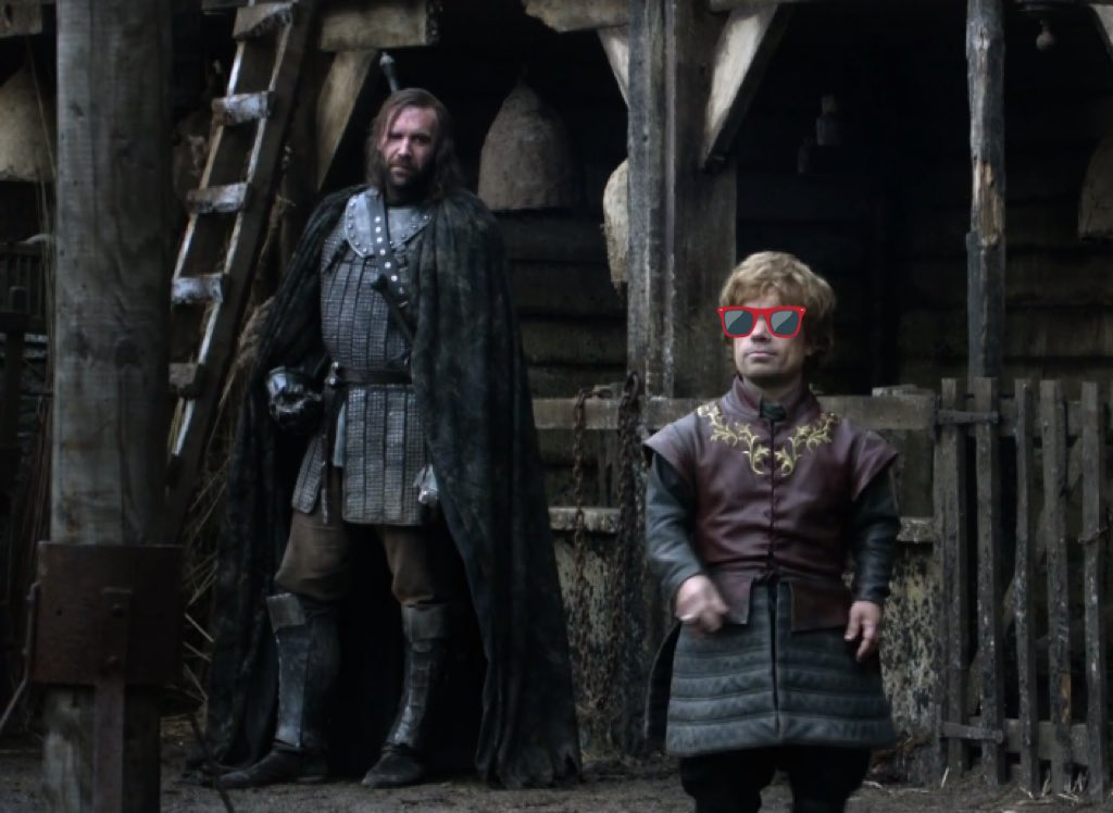 "Joffrey runs off, Sandor warns Tryion ""he'll remember that."" Tyrion basically says ""good"" and swaggers off. https://t.co/fUlK2LbOJD"
