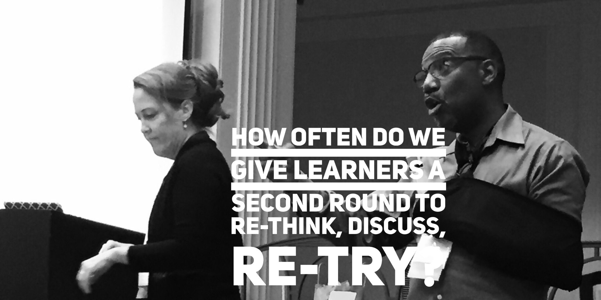 @sewilkie @RoyBPS  How often do we give learners a second round to re-think, discuss, re-try? #BLC16 #lism https://t.co/NzOzvzas6q