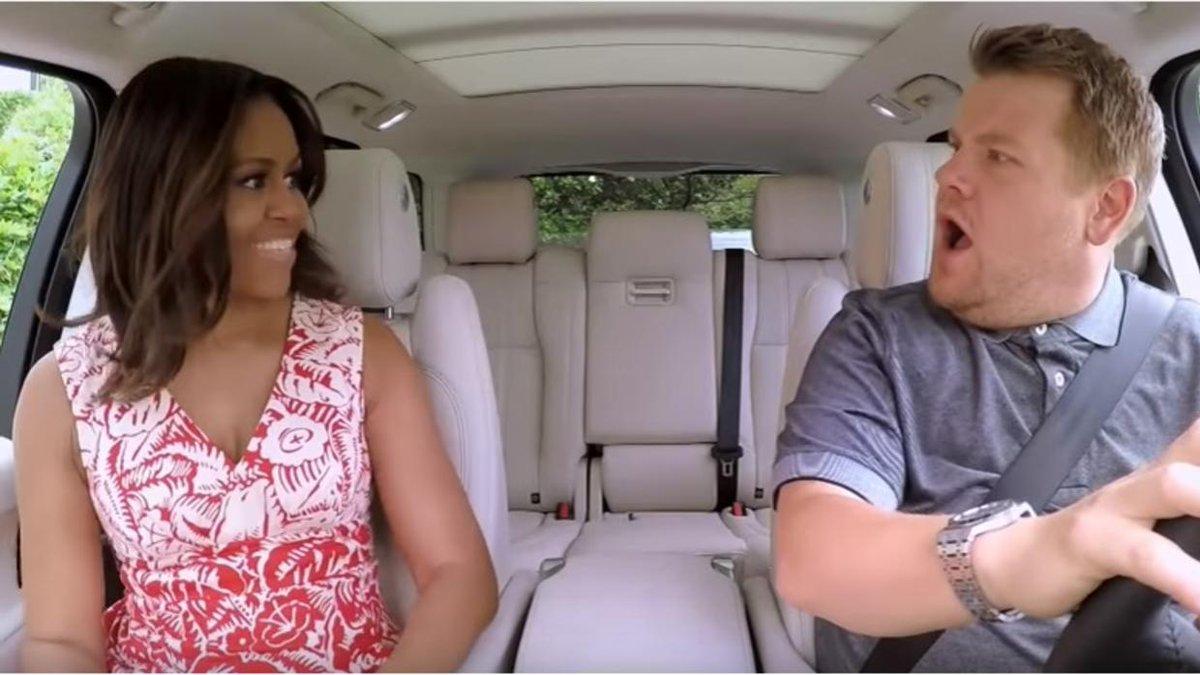 Michelle Obama canta Beyoncé al Carpool Karaoke [VIDEO]