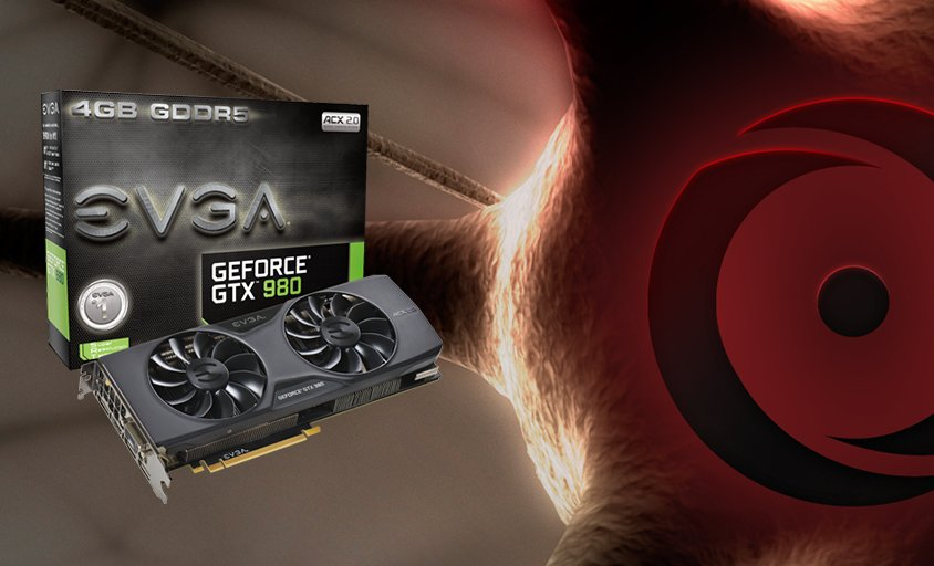 We're giving away an @TEAMEVGA GTX 980! Sign up for your chance to win:   https://t.co/JyUw2rRewz https://t.co/MKwvcYZIc0
