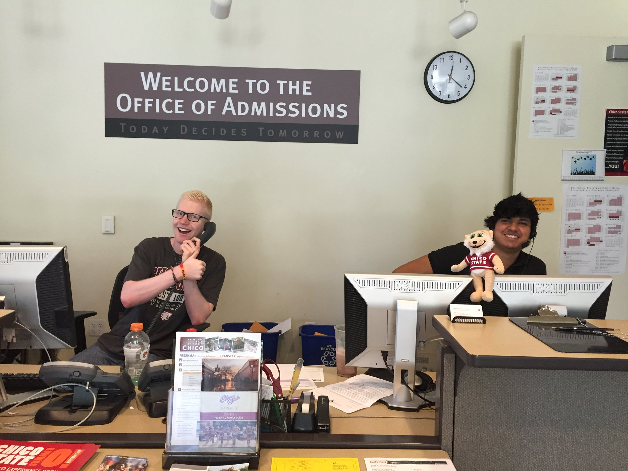 CSU Chico is #MyTopCollege b/c we have awesome fellow wildcats @ our front desk that are ready to help you! https://t.co/xKUV20h1dH